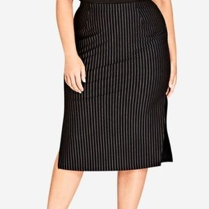 NWOT Nordstrom City Chic Pinstripe Skirt On Point